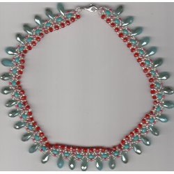 Collier Royal rouge vert
