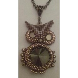 Collier Hibou marron