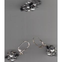 Bague et Boucles d'Oreilles Régence gris
