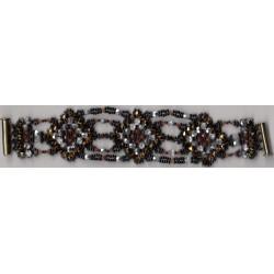 Bracelet Mosaïque or anthracite