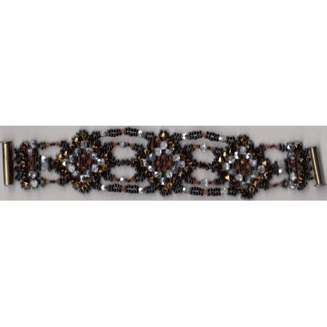 Bracelet Mosaique or anthracite