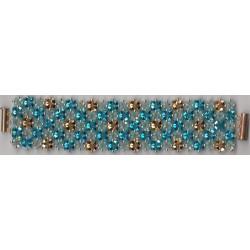 Bracelet Swarovski Soir de bal opale or