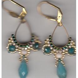 Boucles d'oreilles Arhaima vertes